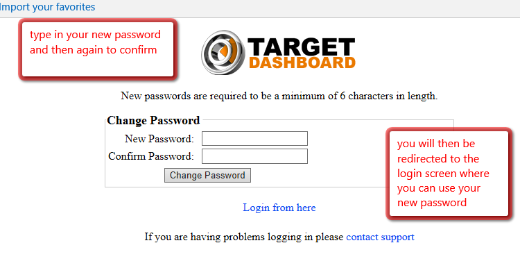 step 4 input new password