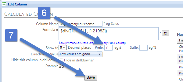 add a pound symbol to the prefix box and click save